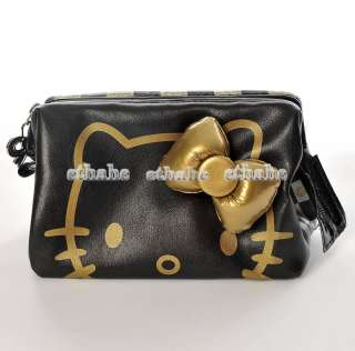 Hello Kitty Cosmetic Case Make up Hand Bag Black A7HV