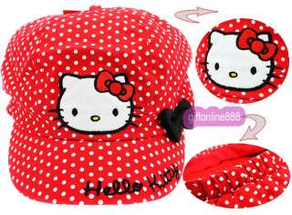 1668 Red Hello Kitty Embroidered cotton sport Cap Hat