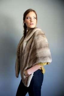Vtg 50s Shadow blond MINK fur sable Stole Cape Bolero dress jacket