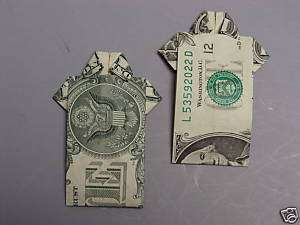 Hawaiian Money Dollar Origami Fold Aloha Shirt 2 Gift