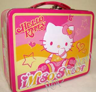 Hello Kitty Piggy Bank Coin Jewelry Tin Money Box Lunch