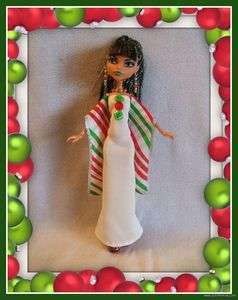 Clothes 4pc Christmas Fashion GOWN + JEWELRY 4 MONSTER HIGH DOLL