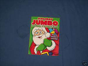 HOLIDAY JUMBO COLORING & ACTIVITY BOOK GAMES PUZZLES CO