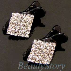 SHIPPING clear rhinestone crystal Acrylic mini hair clamp clip