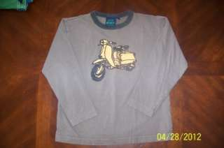EUC Mini Boden Boutique Motor Bike Brown Long Sleeve Tee Shirt Boys