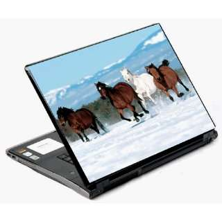 14 and 15 Universal Laptop Skin Decal Cover   Mountain Runing Horses