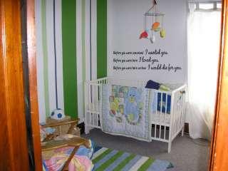 born Nursery Vinyl Wall Word Art Lettering Stickers Home Decor