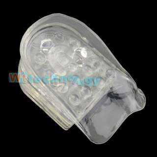 Hot 5 Layers Transparent Silicone Jelly Gel Increase Height Insole