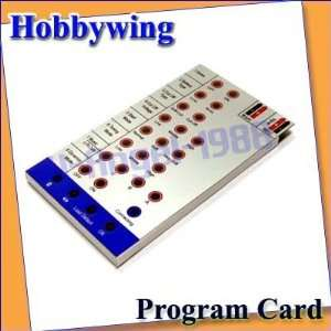 hobbywing program card for rc airplane helicopter esc
