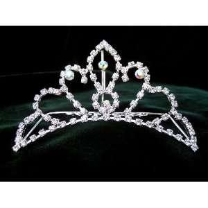 Bridal Prom Crystal Rhinestone Tiara Hair Comb 04