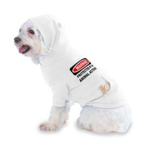 WARNING PROTECTED BY AN ANIMAL ACTIVIST Hooded (Hoody) T