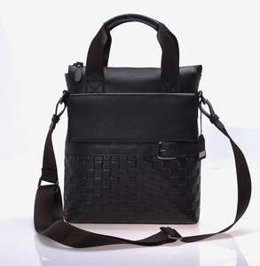 New mens Real leather messenger SHOULDER bag handbag