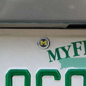 NCAA Michigan Wolverines License Plate Snap Caps Sports