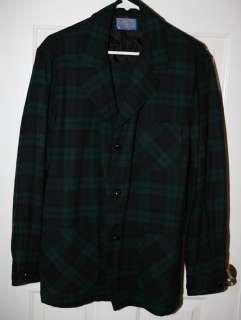 VTG Pendleton Plaid 49ers Indie Virgin Wool Jacket Coat USA Made Sz M