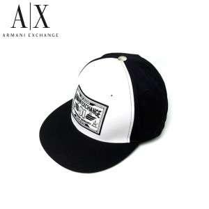 Armani Exchange Logo Flat Brim Baseball Hat Indigo NWT
