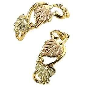 Stamper 12K Black Hills Solid Gold Earrings. E1032 Stamper Jewelry