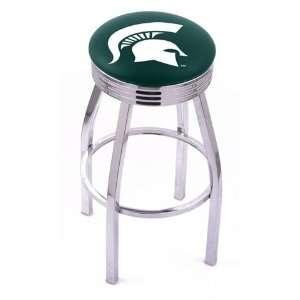 Michigan State University Spartans Chrome Metal Bar Stool