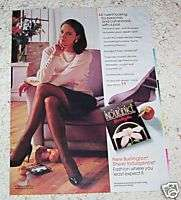 1988 ad Burlington Sheer Indulgence Pantyhose 1 page AD