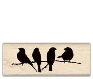 INKADINKADO RUBBER STAMP ~ Silhouette Birds on Branch ~ 97855 ~ 1.5 x