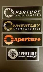 set APERTURE LABORATORIES science innovators 70s logo portal 2 decal