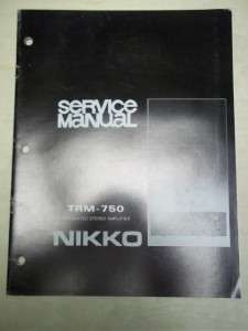 Service/Repair Manual~TRM 750 Integrated Amplifier~Original
