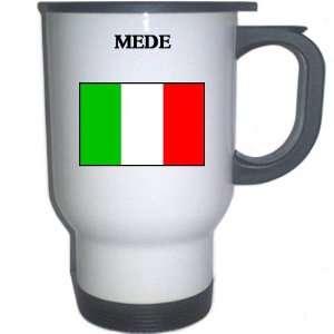 Italy (Italia)   MEDE White Stainless Steel Mug