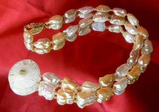 RARE GEM NATURAL SOLAR QUARTZ WHITE KEISHI PEARL 14K SOLID GOLD