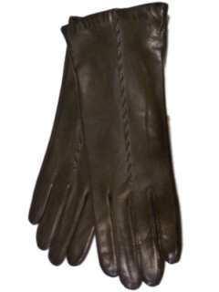 Womens Long Black Leather Gloves Isotoner Warm Touch Lining