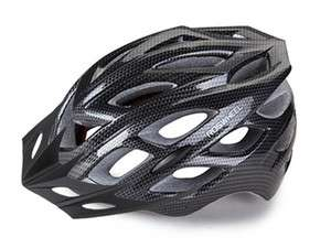 Sport Bike Cycling In mold CARBON BLACK Helmet w/ LED sz L M89