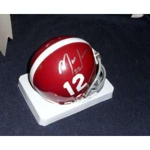 Mark Ingram Heisman Autographed Signed Alabama Mini Helmet