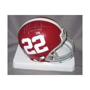 Mark Ingram signed Alabama Crimson Tide Mini Helmet w/2009 Heisman