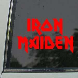 Iron Maiden Red Decal Metal Rock Band Window Red Sticker