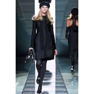 Marc Jacobs Black Blue Wool Coat Sz 2