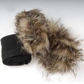 Faux Fur Cover on Socks Half Long Stockings Socks fit Boots