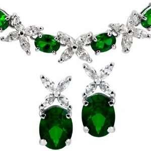 Gift Set Jaffas Fancy Flower Necklace & Earrings   Faux