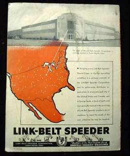 1948 Link Belt Speeder Truck Mounted Shovel Crane Advertising Brochure