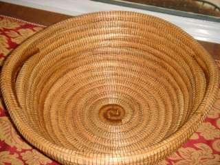 Handmade Pine Needle Basket From Nicaragua