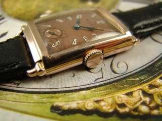HI GRADE 14K PINK GOLD FL ART DECO BULOVA MENS WATCH VINTAGE 1940s