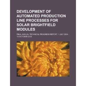 Development of automated production line processes for