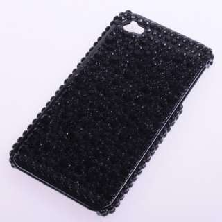 Black Crystal Bling Diamond Case Cover Protector For Apple iPhone 4 4G