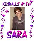 BIG TIME RUSH PERSONALIZED SHIRT KENDALL CUSTOM NAME