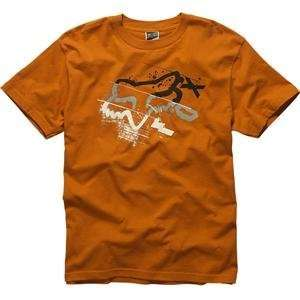 Fox Racing Three Minutes T Shirt   Small/Burnt Orange