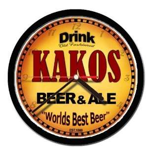 KAKOS beer and ale cerveza wall clock: Everything Else