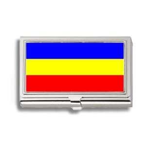 KKF Khmer Kampuchea Flag Business Card Holder Metal Case
