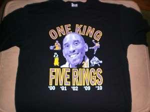 Kobe Bryant Los Angeles Lakers one King 5 Rings Tshirt