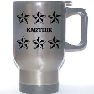 Personal Name Gift   KARTHIK Stainless Steel Mug (black