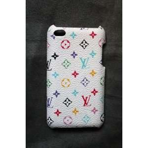 Leather Hard Back Case Cover for iPod Touch/iTouch 4 White