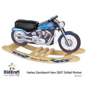 Kidkraft   Harley Davidson Blue Softail Rocker Baby
