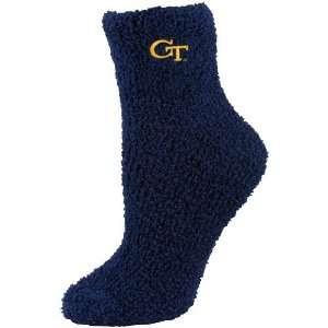 Georgia Tech Yellow Jackets Ladies Black Cozy Socks