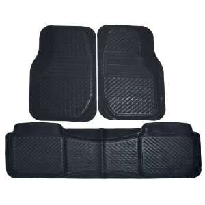 Koolatron 18644 Kool Auto Black Car Mat Set   3 Piece